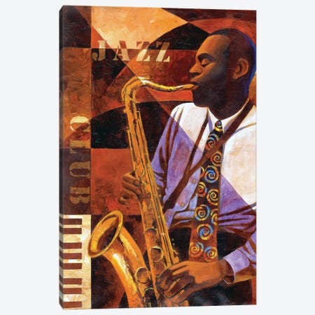 Jazz Club Canvas Print #KMA5} by Keith Mallett Canvas Art Print