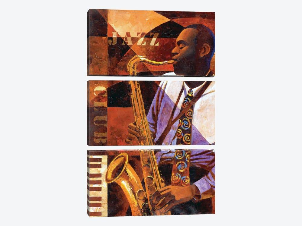 Jazz Club by Keith Mallett 3-piece Art Print