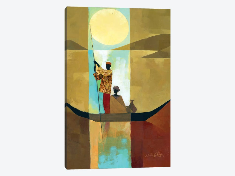On The River I by Keith Mallett 1-piece Canvas Print
