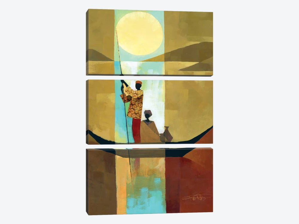 On The River I by Keith Mallett 3-piece Art Print