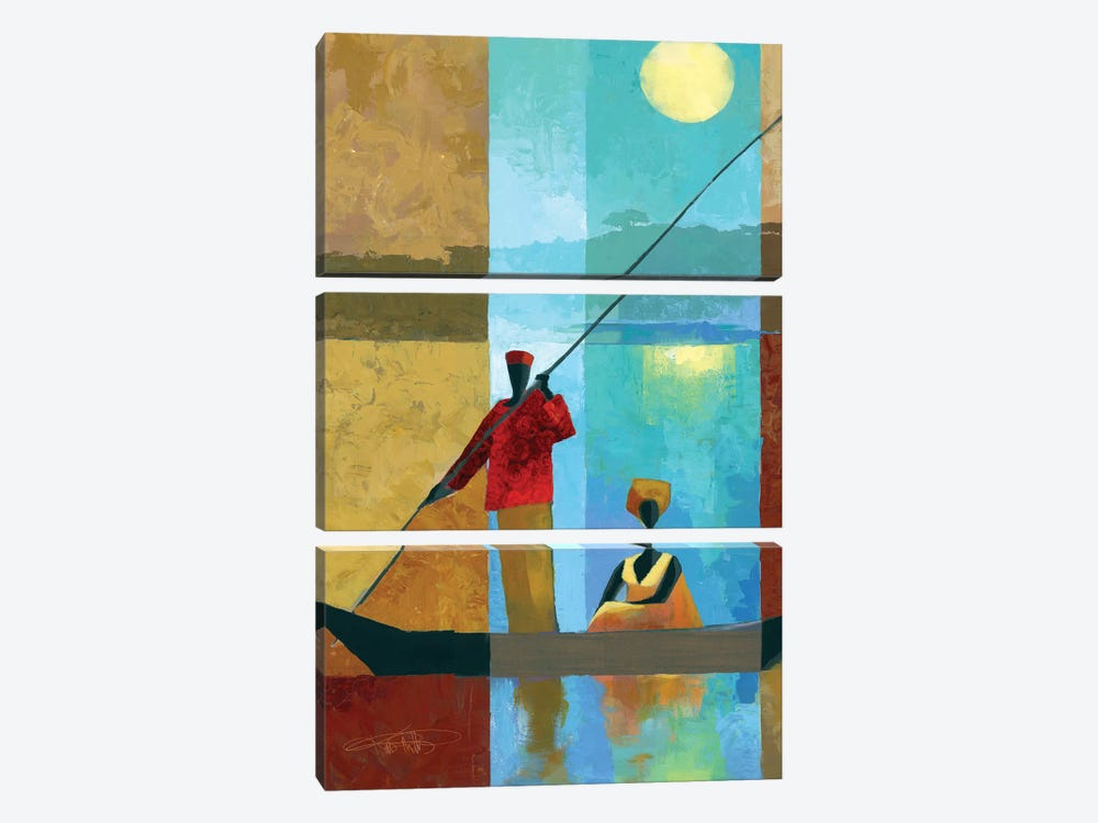 On The River II by Keith Mallett 3-piece Canvas Artwork