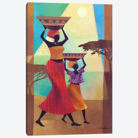 Mother's Helper Canvas Print #KMA66} by Keith Mallett Canvas Art Print
