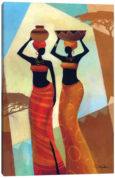 Sisters Canvas Art Print
