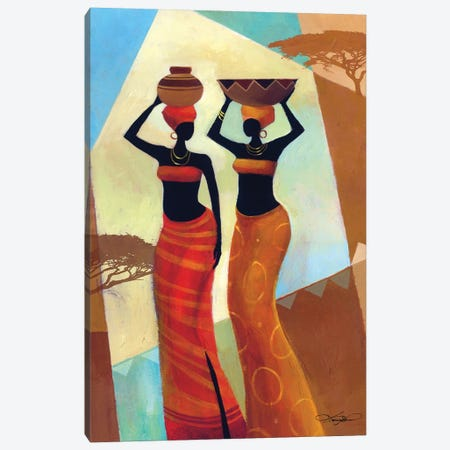 Sisters Canvas Print #KMA67} by Keith Mallett Art Print