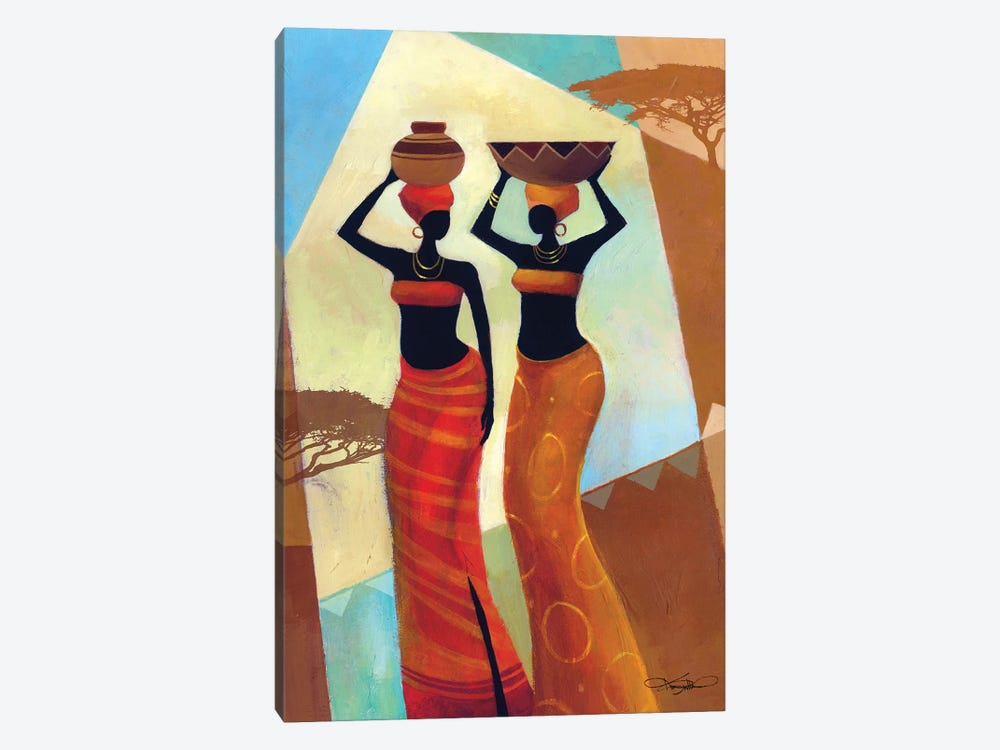 Sisters by Keith Mallett 1-piece Canvas Print