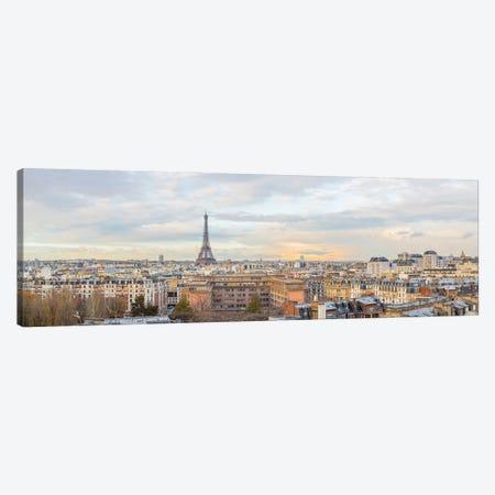 Paris Eiffel Tower Panorama Canvas Print #KMD100} by Karen Mandau Canvas Art Print