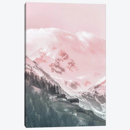 Pink Mountain Landscape Canvas Print #KMD112} by Karen Mandau Canvas Wall Art