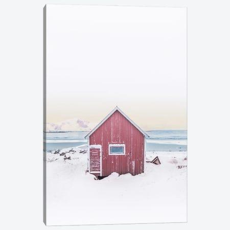 Pink Scandinavian Cabin Canvas Print #KMD118} by Karen Mandau Canvas Wall Art