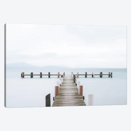 Serene Jetty Canvas Print #KMD137} by Karen Mandau Canvas Print