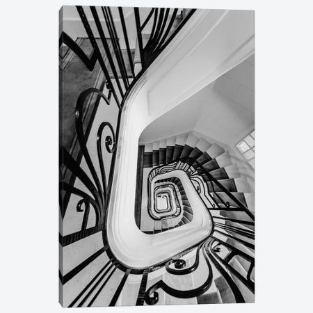 Staircase Black And White Canvas Print #KMD144} by Karen Mandau Canvas Artwork