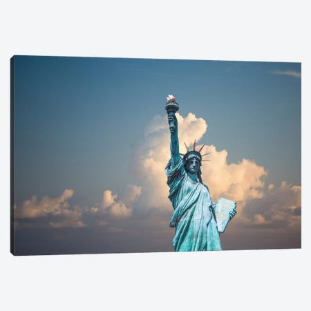 Statue Of Liberty Canvas Print #KMD146} by Karen Mandau Canvas Wall Art