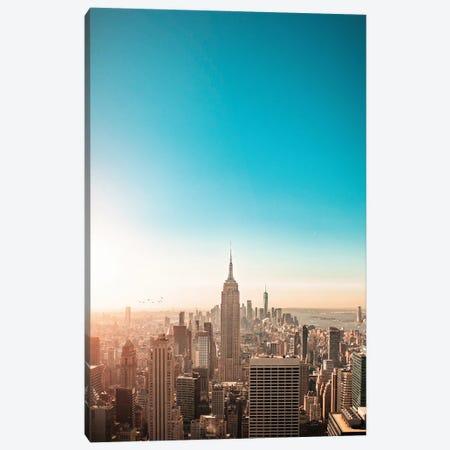 Sunny New York City Skyline Canvas Print #KMD147} by Karen Mandau Canvas Art