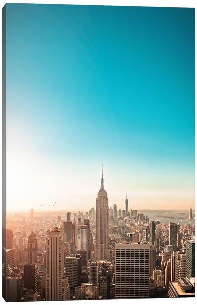 Sunny New York City Skyline Canvas Art Print
