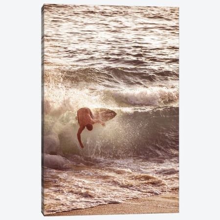 Surfer In The Waves Canvas Print #KMD151} by Karen Mandau Canvas Art