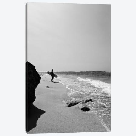 Surfer On The Beach Canvas Print #KMD152} by Karen Mandau Canvas Art