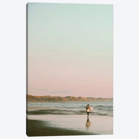 Surfer Walking On The Beach Canvas Print #KMD153} by Karen Mandau Canvas Artwork