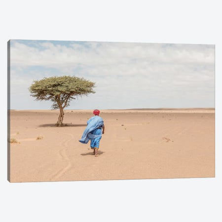 Bedouin Walking In The Desert Canvas Print #KMD15} by Karen Mandau Canvas Print