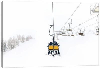 Yellow Ski Lift Canvas Art Print