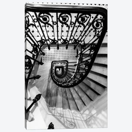 Black And White Staircase Canvas Print #KMD19} by Karen Mandau Canvas Art