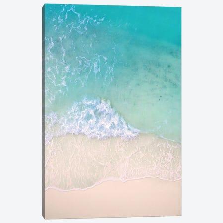 Aerial Beac Waves Canvas Print #KMD1} by Karen Mandau Canvas Print
