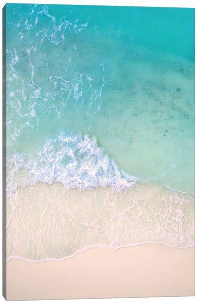 Aerial Beac Waves Canvas Art Print