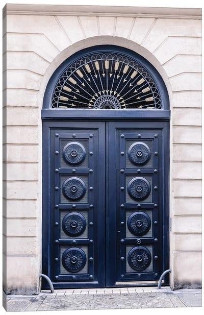 Blue Door In Paris Canvas Art Print
