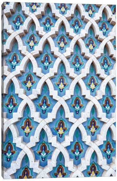 Blue Moroccan Mosaic Canvas Art Print