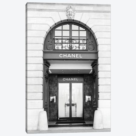 Chanel Store Black And White Canvas Print #KMD36} by Karen Mandau Art Print