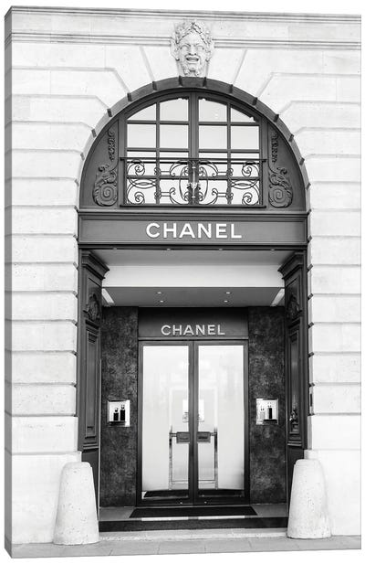 Chanel Store Black And White Canvas Art Print