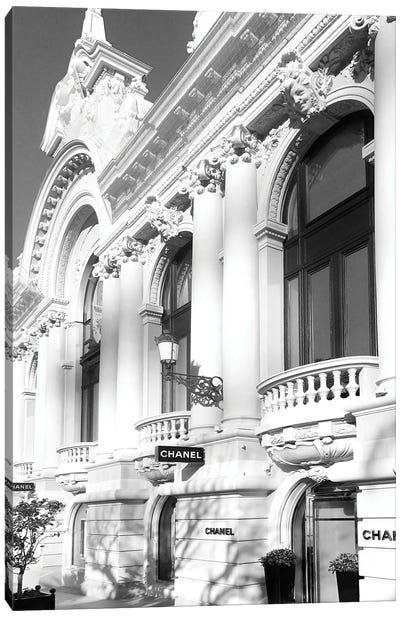 Chanel Store Monaco Black And White Canvas Art Print