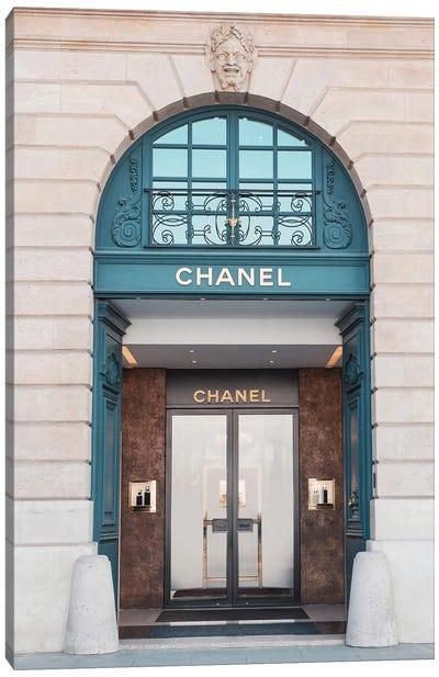Chanel Store Paris Canvas Art Print