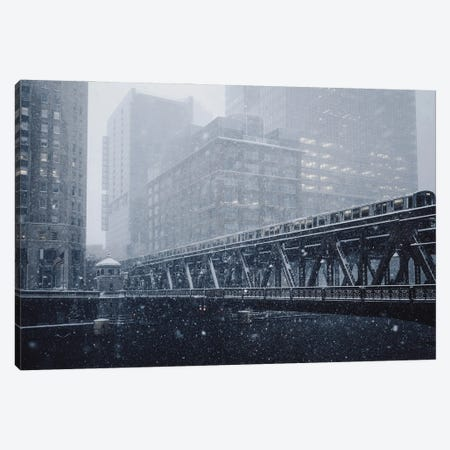 Chicago In The Winter Canvas Print #KMD42} by Karen Mandau Art Print
