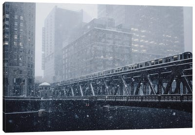 Chicago In The Winter Canvas Art Print