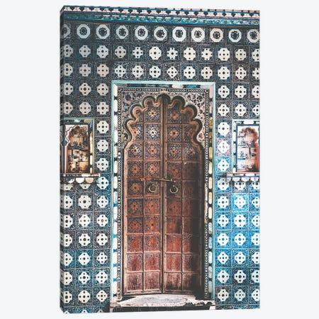 Decorated Indian Door In Pondicherry Canvas Print #KMD47} by Karen Mandau Canvas Artwork