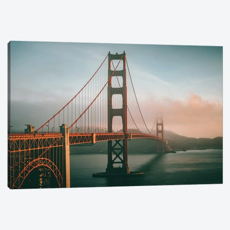 Golden Gate Bridge San Francisco Canvas Print #KMD58} by Karen Mandau Canvas Wall Art