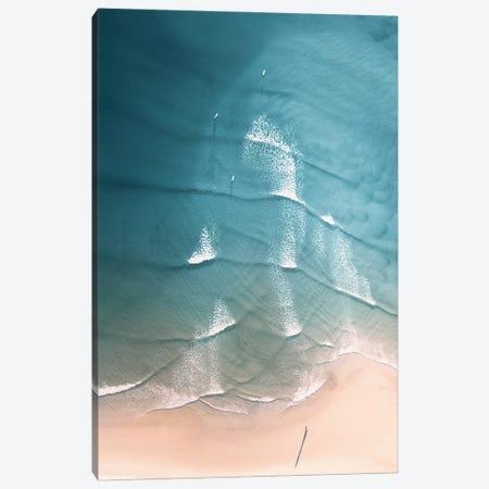 Aerial Beach Pastel Canvas Print #KMD5} by Karen Mandau Canvas Wall Art