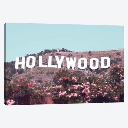 Hollywood Sign With Flowers Canvas Print #KMD68} by Karen Mandau Canvas Art Print