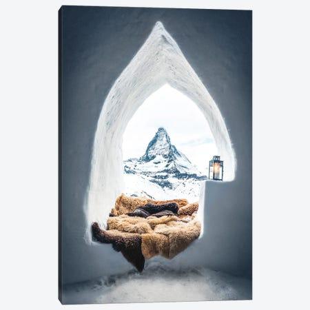 Igloo With A Mountain View Canvas Print #KMD70} by Karen Mandau Canvas Artwork