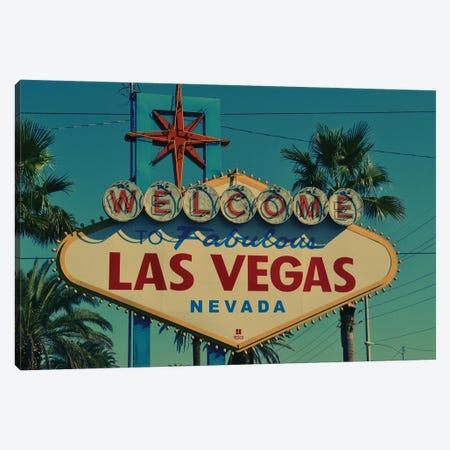 Las Vegas Sign Canvas Print #KMD73} by Karen Mandau Canvas Art