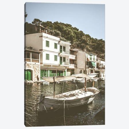 Mediterranean Boat Canvas Print #KMD77} by Karen Mandau Canvas Print