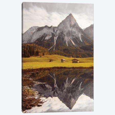 Mountain Lake In Austria Canvas Print #KMD84} by Karen Mandau Canvas Artwork