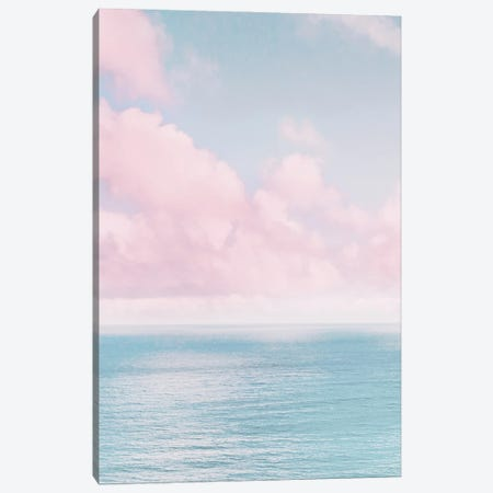 Ocean With Pink Clouds Canvas Print #KMD93} by Karen Mandau Canvas Artwork