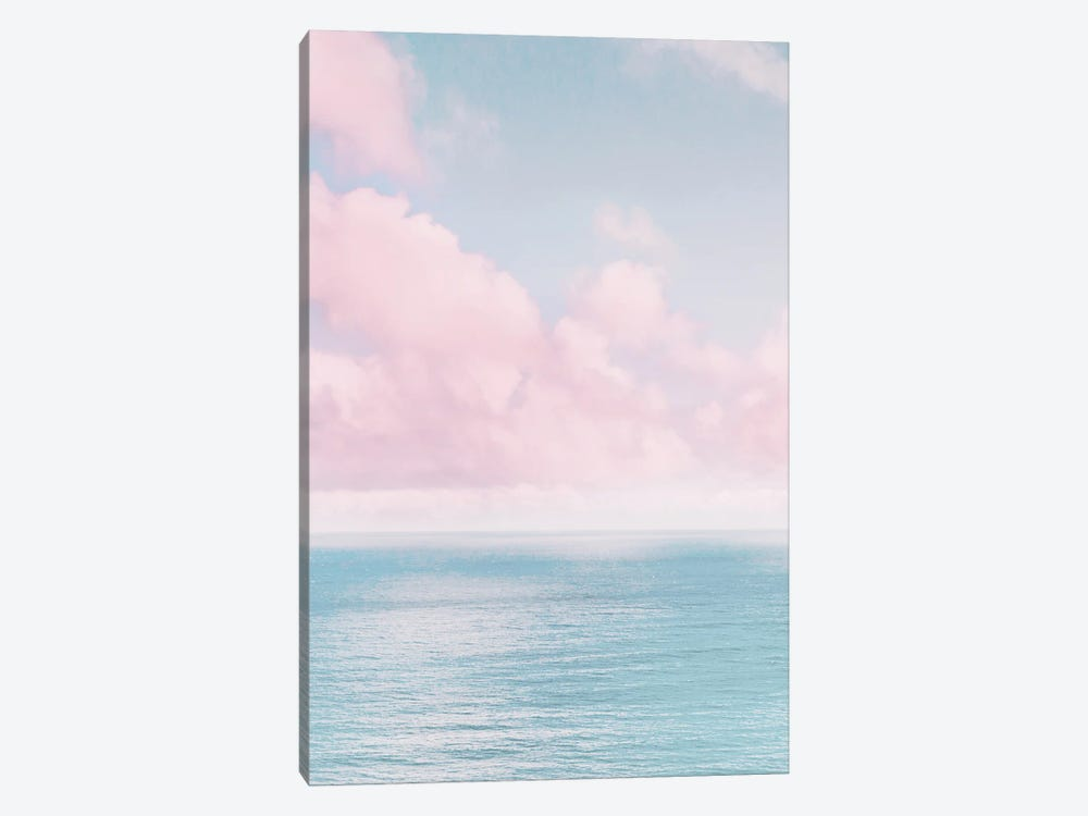 Ocean With Pink Clouds by Karen Mandau 1-piece Canvas Wall Art