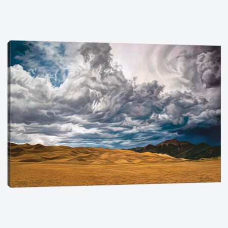 Drinkers Of The Wind Canvas Print #KME36} by Kim McElroy Canvas Wall Art