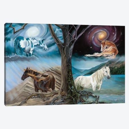 Horses Of The Four Elements Canvas Print #KME79} by Kim McElroy Art Print