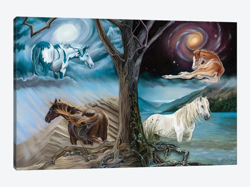 Horses Of The Four Elements by Kim McElroy 1-piece Canvas Art Print