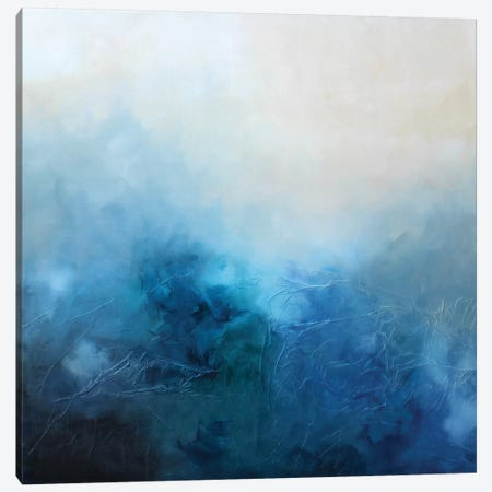 Blue Bliss Canvas Print #KMH74} by KR MOEHR Canvas Print