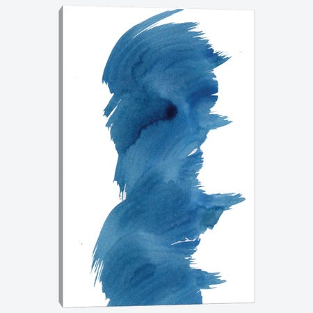 Blue Fevered I Canvas Print #KMH75} by KR MOEHR Art Print
