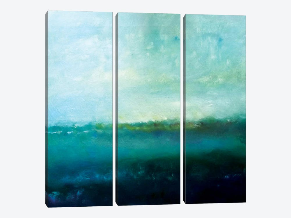 Blue Water by KR MOEHR 3-piece Canvas Art