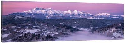 Dawn At Tatra Mountains Canvas Art Print